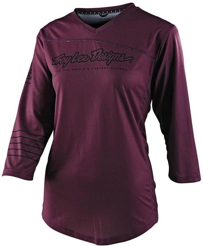 Troy lee designs Troy Lee Designs Mischief Koszulka z jerseyu z rękawem 3/4 Kobiety, deep fig M 2020 Koszulki MTB i Downhill 359 786 033