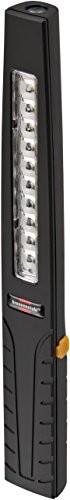 Brennenstuhl 1171590 latarka lampa z prętem akumulator/Mini z 10 + 1 jasne diody LED SMD (6 godzin Czas świecenia, wraz z kablem do ładowania USB) Kolor: czerwony, czarny 1171590