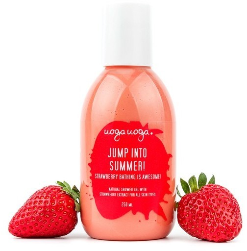 Uoga Uoga Uoga Uoga, żel pod prysznic z ekstraktem z truskawki Jump Into Summer, 250 ml