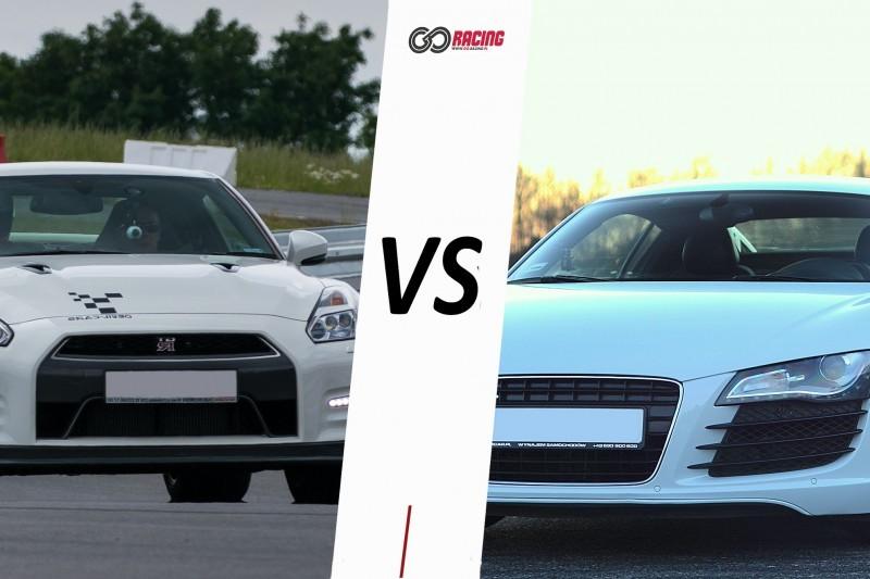 go racing Audi R8 vs Nissan GTR : Ilość okrążeń - 12, Tor - Tor Białystok, Usiądziesz jako - Kierowca