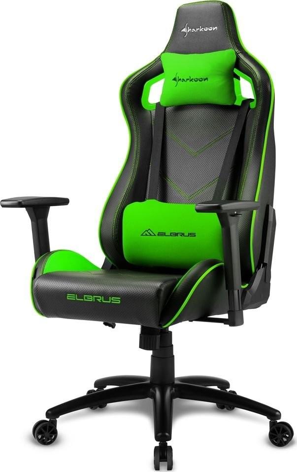 Sharkoon Sharkoon Elbrus 2 Gaming Seat black/green