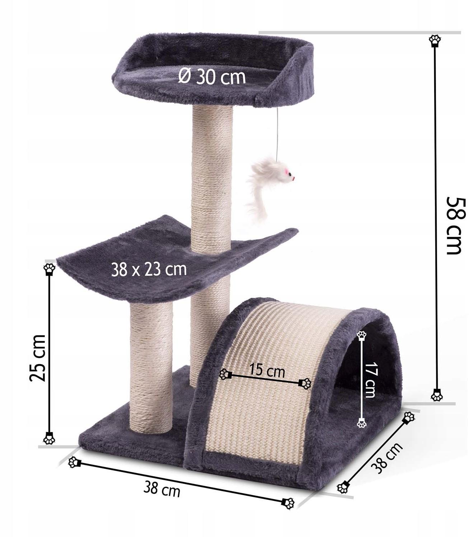 Drapak dla kota 58 cm DR-253 Pethaus z myszką