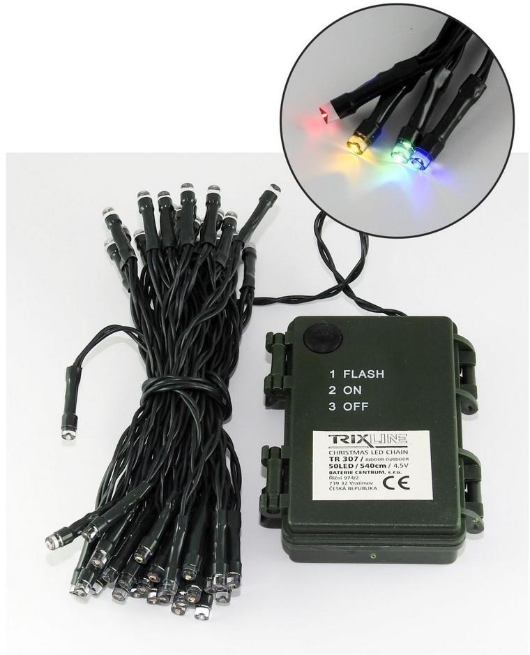 Baterie Centrum LED Zewnętrzny łańcuch świąteczny 5,4 m 50xLED/3xAA kolorowy