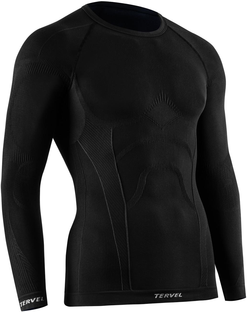 TERVEL COMFORTLINE 1002 męska koszulka termoaktywna długi rękaw kolor Czarny