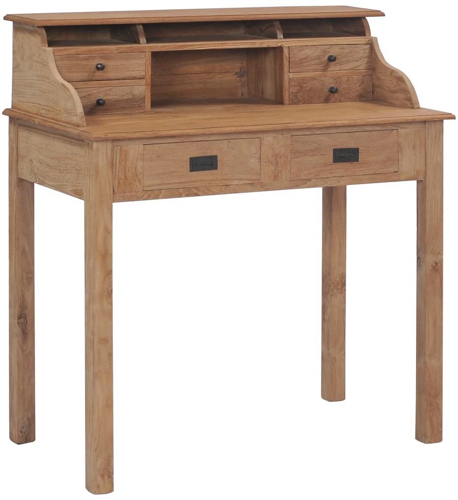 vidaXL vidaXL Biurko, 90x50x100 cm, lite drewno tekowe