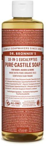 DR. BRONNER'S Mydło w Płynie 18w1 Eukaliptusowe, Dr. Bronners, 475 ml