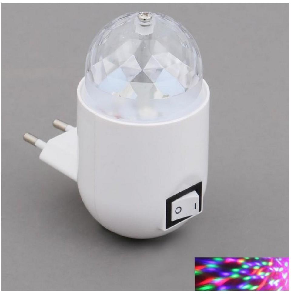 Briloner 2668-016 - LED RGB Lampa dziecięca do gniazda z wyłącznikiem 1xLED/3W/230V
