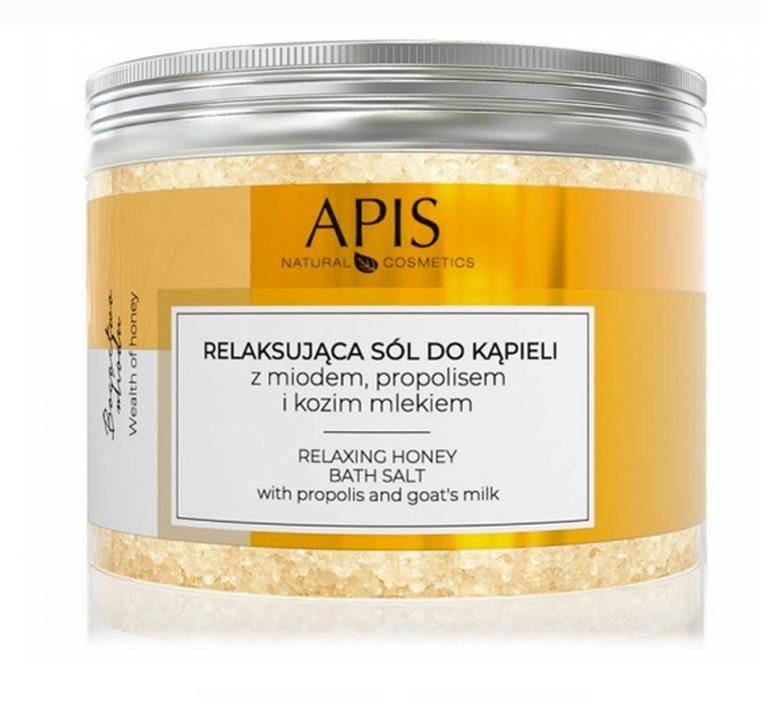 Apis bogactwo miodu, relaksująca sól do kąpieli z miodem, propolisem i kozim mlekiem, 650 g P133744