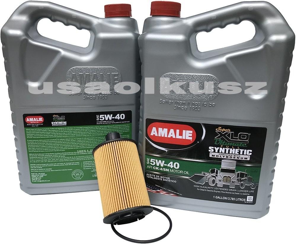 AMALIE Filtr oraz olej silnikowy 5W-40 CJ-4 CK4 CK-4 CI-4 MS-10902 Jeep Grand Cherokee 3,0 CRD TD 2014 5W40+10F0A00-JPN