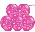 PartyDeco Balony 30cm Wieczór Panieński M Hot Pink 6szt SB14M-240-006/6