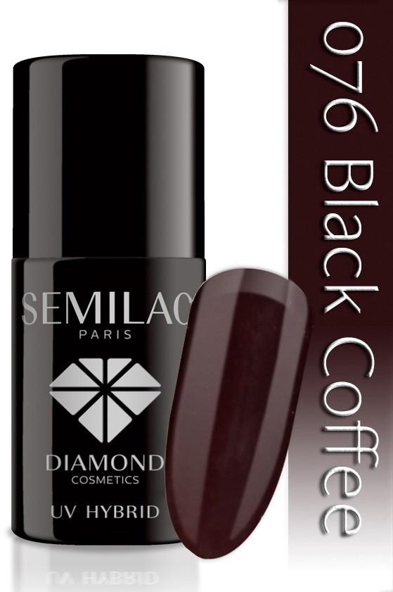 Semilac Lakier Hybrydowy Semilac 076 Black Coffee - 7 Ml 4794