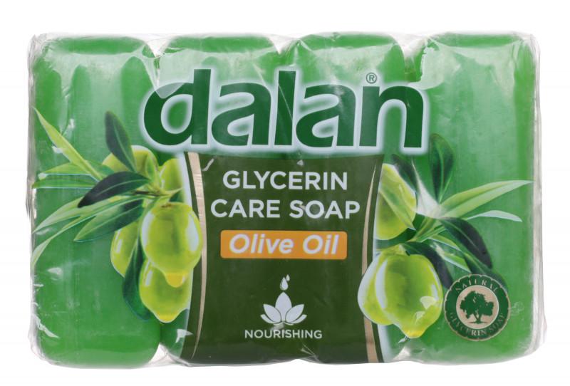 Dalan Glycerin Care Soap - Zestaw 4 mydeł w kostce - Oliwkowe DALCZMKOL