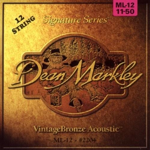 Dean Markley 2204 struny do 12-strunowych gitar akustycznych, mocne światło 2204