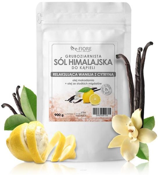 e-FIORE sól himalajska z olejkami Zmysłowa wanilia