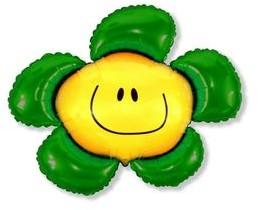 FLX Balon foliowy Kwiatek zielony 94 cm 901548VE