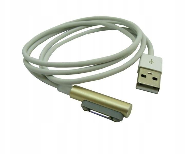 Sony Kabel magnetyczny Usb do Z1 Z1c Z3c złoty Led