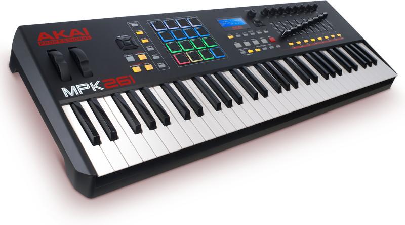 AKAI Professional MPK 261 - Kontroler + kurs domowe studio nagrań 53116