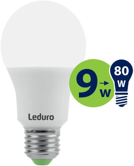 Leduro com Żarówka LED A60 9W 800lm 360 E27 2700K 21196
