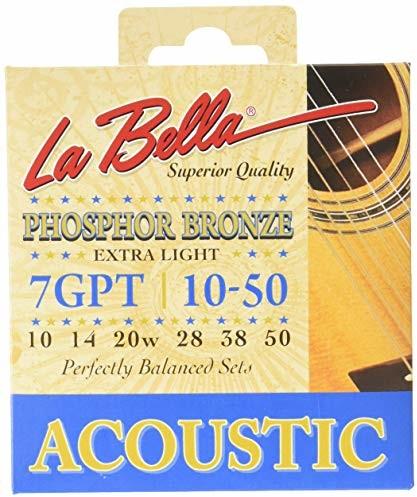 LaBella Labella 7GPT fosforowy brąz, struny do gitary akustycznej, 010-050 7GPT