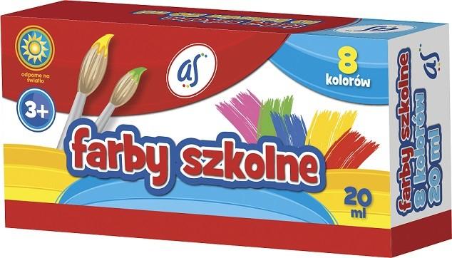 Astra Farby Szkolne 8 kolorów