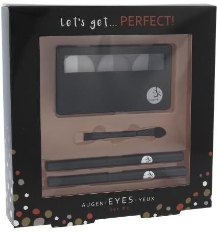 2K 2K Let´s Get Perfect! Eyeshadow W Kosmetyki Zestaw kosmetyków Cienie do powiek 3 x 2,2 g + Aplikator do cieni 1 szt + Kredka do oczu 0,2 g 086 + Kredka do oczu 0,2 g 087 Grey 70691