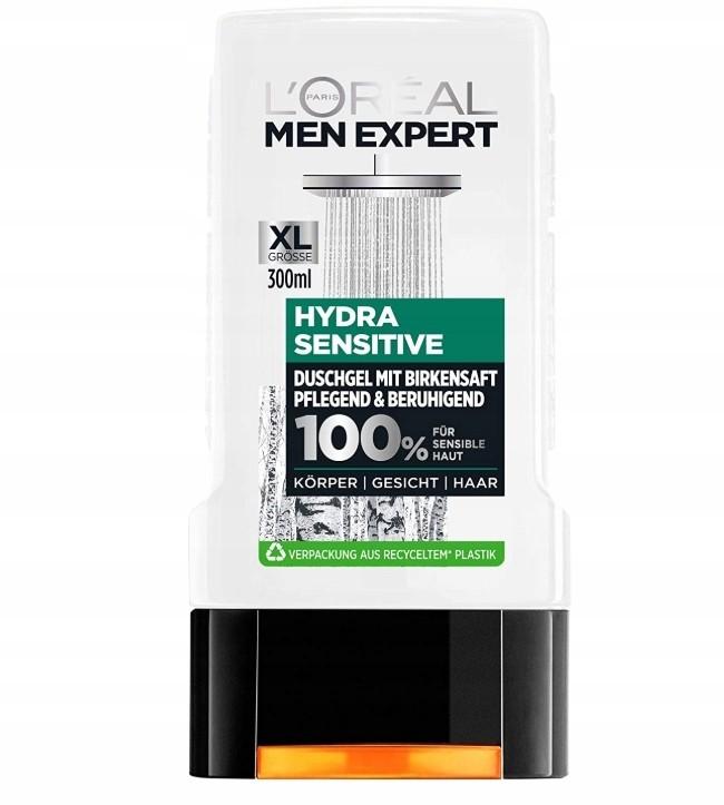 L'Oréal Men Expert, Hydra Sensitive, Żel, 300 ml