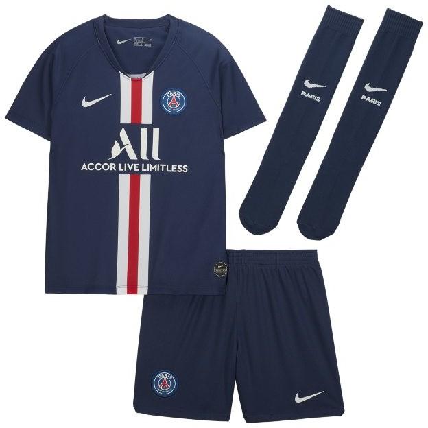 Nike Strój piłkarski dla małych dzieci Paris Saint-Germain 2019/20 Home - Niebieski AO3062-411