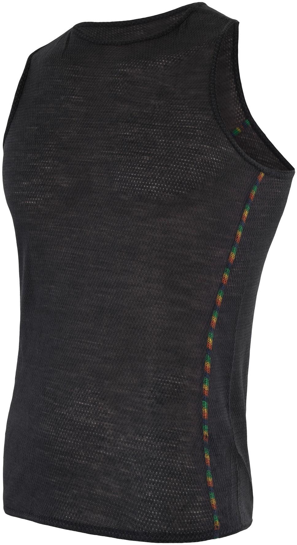 Sensor Merino Air pánské triko bez rukávu černá XXL