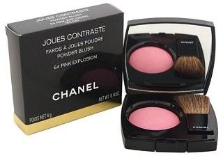 Chanel Chanel Joues Contraste Powder Blush 64 Pink Explosion pudrowy róż z ujednolicającą i rozjaśniającą skórę formułą 4 g
