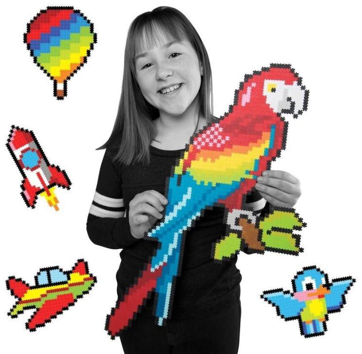 Fat Brain Toy Co Puzzelki pixelki Jixelz 1500 - W powietrzu