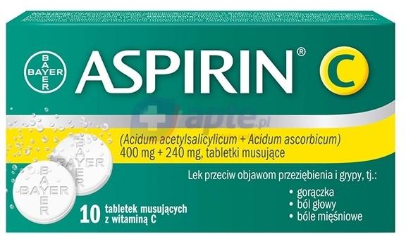 Bayer Aspirin C 400mg + 240mg x10 tabletek musujących