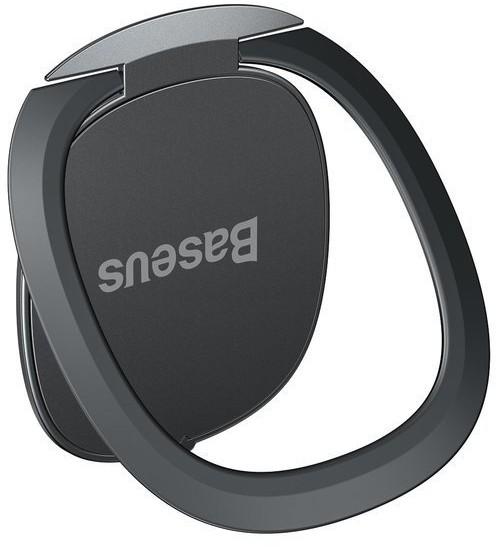 Baseus Baseus Invisible Phone Ring Holder | Uchwyt Ring do telefonu podstawka adapter magnetyczny 3w1 | czarny SUYB-0A