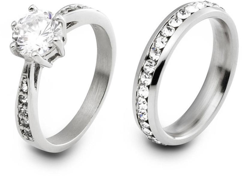 bonprix Komplet 2 pierścionków bonprix srebrny kolor