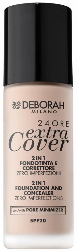 Deborah MILANO Milano - 24ORE Extra Cover - 2 IN 1 FOUNDATION AND CONCEALER - Podkład do twarzy 2w1 - 03 DEB3