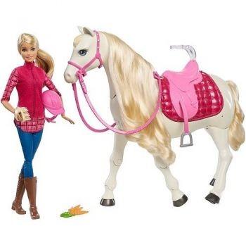 Mattel Barbie Koń z Lalką FRV36