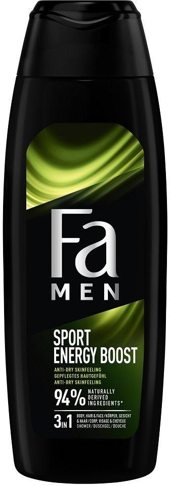 Fa Men Xtreme Sports Energy Boost Shower Gel 750ml żel pod prysznic do mycia ciała i włosów dla mężczyzn