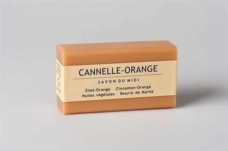 SAVON DU MIDI Mydło z masłem shea CANELLE-ORANGE (Cynamon & Pomarańcza) 102 110539