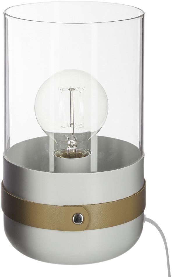 Atmosphera Créateur d'intérieur Atmosphera Créateur dintérieur Lampa stojąca z metalu i szkła lampka stołowa biała designerska lampa lampa dekoracyjna lampa z metalu lampki nocne B07GFPTQ3C