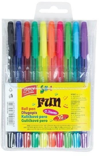 Easy Stationery Długopisy Fun 10 kolorów EASY