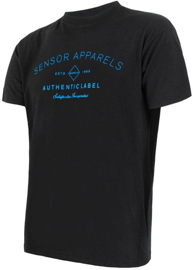 Sensor koszulka męska Merino Active Pt Label z krótkim rękawem czarna XXL