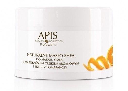 Apis Professional Naturalne masło shea do masażu z marokańskim olejkiem arganowym i ekstraktem z pomarańczy 200 g 333333333999409