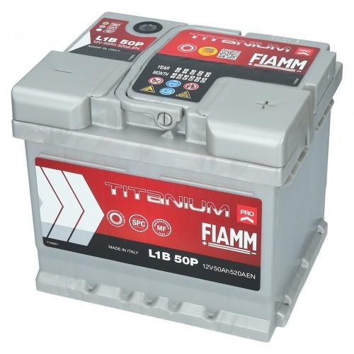 Fiamm Titanium PRO L1B 12V 50Ah 520A (EN) P+ L1B 50P