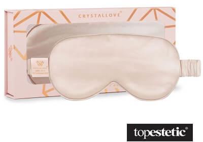 Crystallove Crystallove Opaska Na Oczy Do Spania Jedwabna (złota) 1 szt