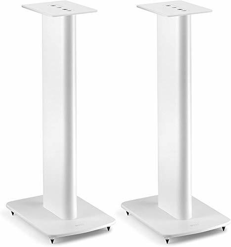 KEF Performance Speaker Stand Weiss Paar, Lautsprecherständer   aus Aluminium   integrierte Kabelführung   befüllbar   Spikes