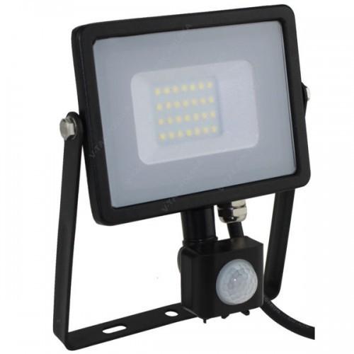 V-TAC Naświetlacz Halogen Lampa 20W V-TAC LED z czujnikiem VT-20-S