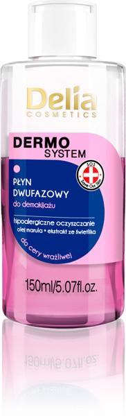 Delia Cosmetics Dermo System 150 ml Dwufazowy płyn do demakijażu cera wrażliwa