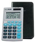 MILAN Kalkulator Milan kieszonkowy w etui 8 pozycyjny, niebieski