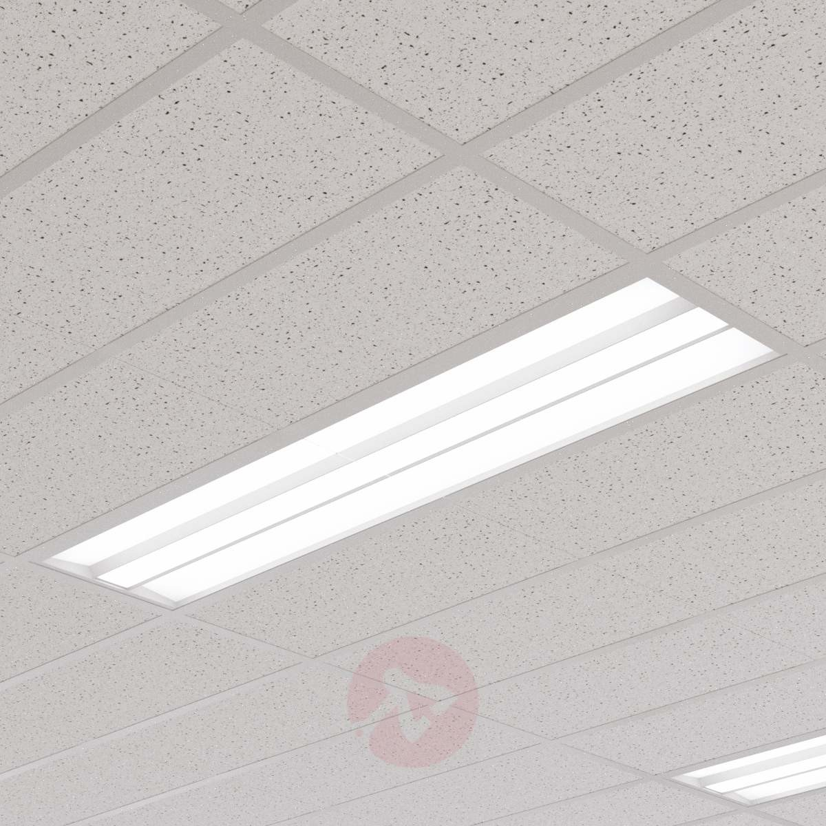 Lampenwelt com Panel LED Malo do sufitów rastrowych,30 cm x 120cm
