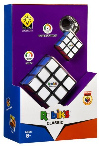TM Toys Kostka Rubika zestaw Classic 3x3 + breloczek 3032