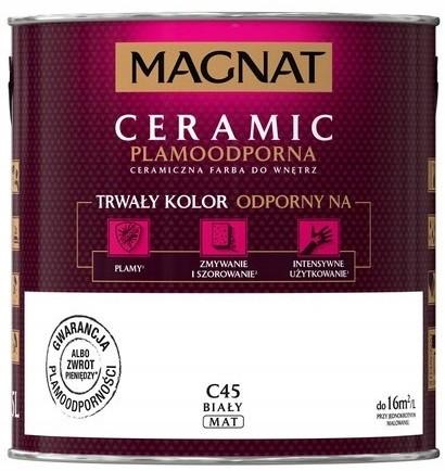 Magnat Farba Ceramiczna Ceramic C45 Biały 5L
